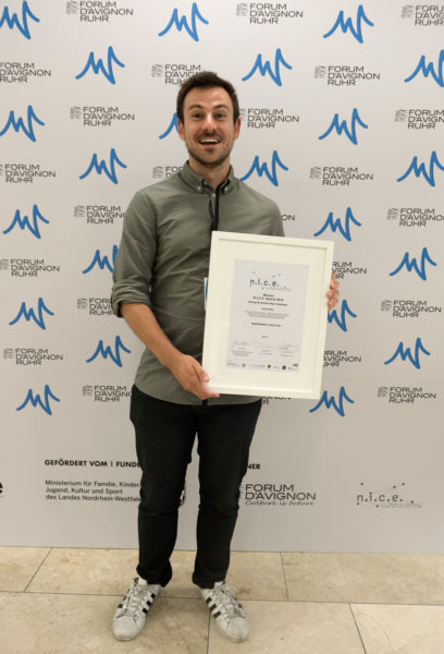 Adrian received the award at the Forum d'Avignon Ruhr