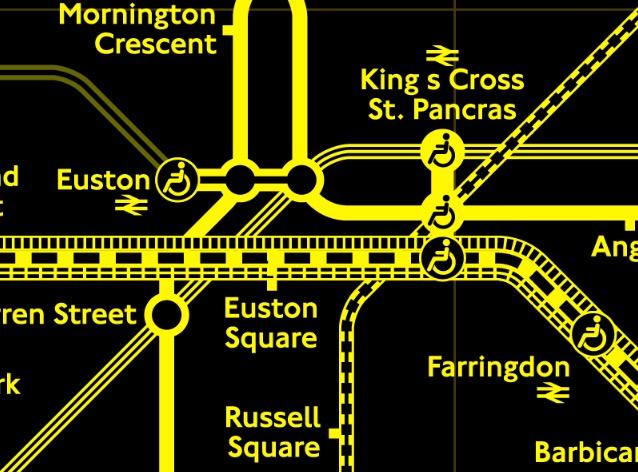TFL colour blind tube map