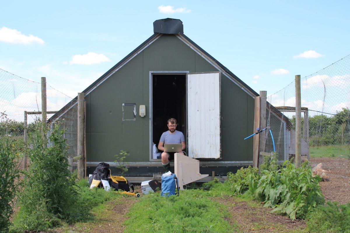John in a coop